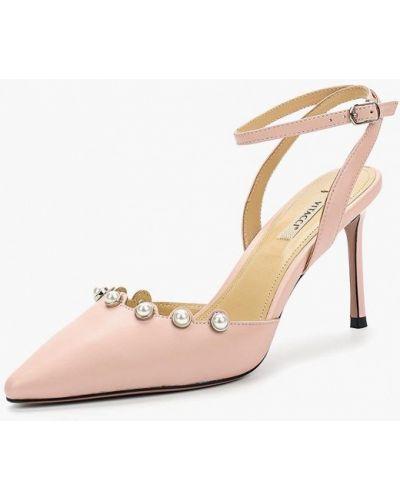 Кожаные туфли с открытой пяткой на каблуке Vitacci