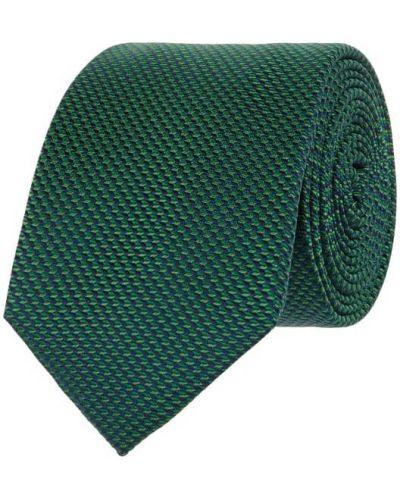 Klasyczny zielony krawat z jedwabiu Monti