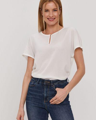 Biała bluzka z wiskozy na co dzień Vero Moda