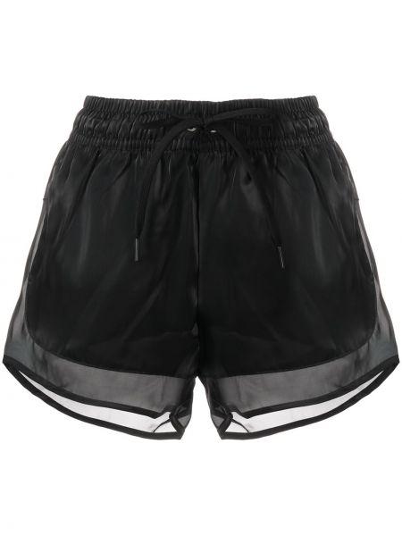 С кулиской черные с завышенной талией шорты Nike