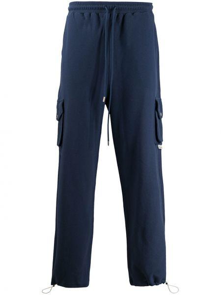 Niebieskie spodnie bawełniane Drole De Monsieur