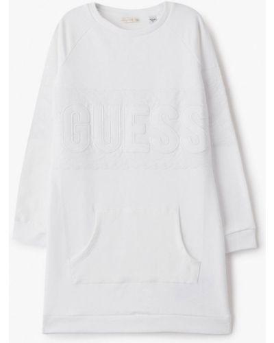 Белое повседневное платье Guess