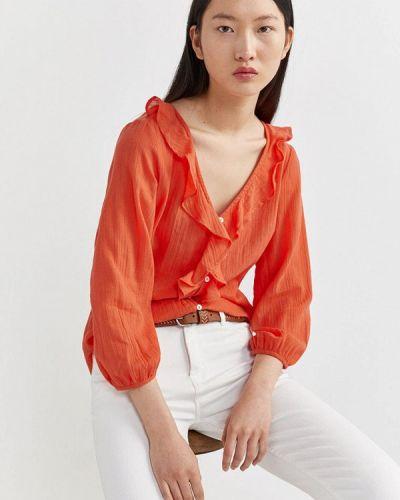 Оранжевая блузка Springfield