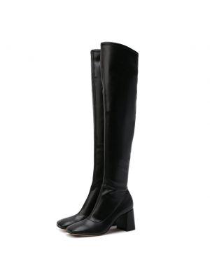 Черные кожаные сапоги Gianvito Rossi