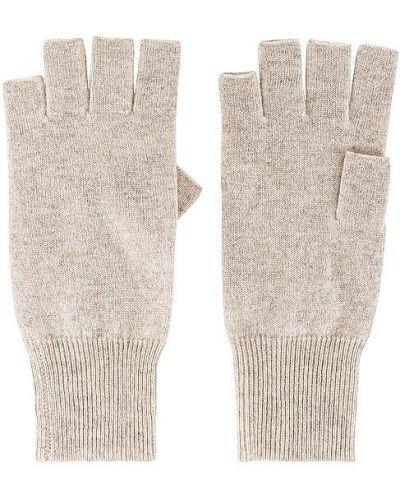 Z kaszmiru beżowe rękawiczki bez palców Autumn Cashmere