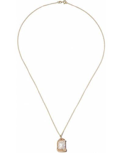 Złoty naszyjnik łańcuch - biały Bleue Burnham