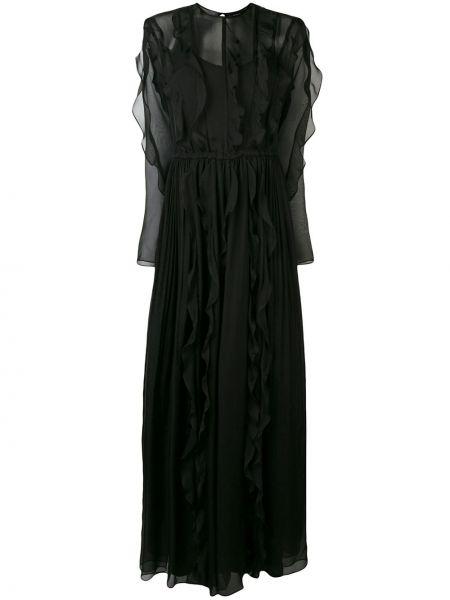 Платье макси с прозрачными рукавами с поясом Irina Schrotter