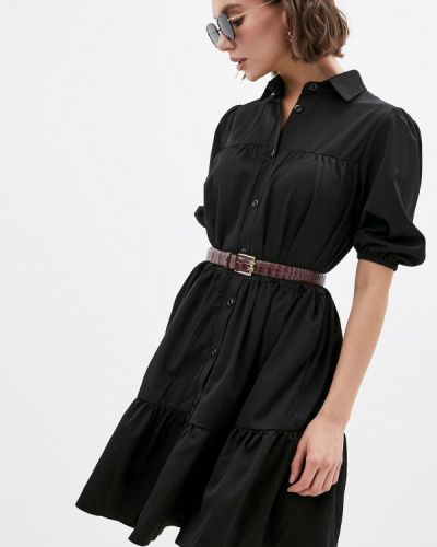 Черное платье-рубашка Hey Look