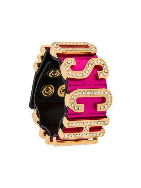 Różowa złota bransoletka Moschino