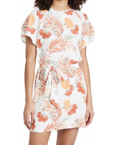 Платье с поясом с декольте с короткими рукавами Minkpink