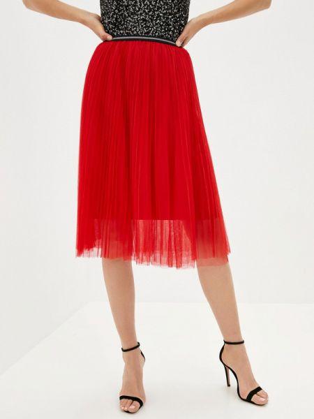Плиссированная красная плиссированная юбка Shelter
