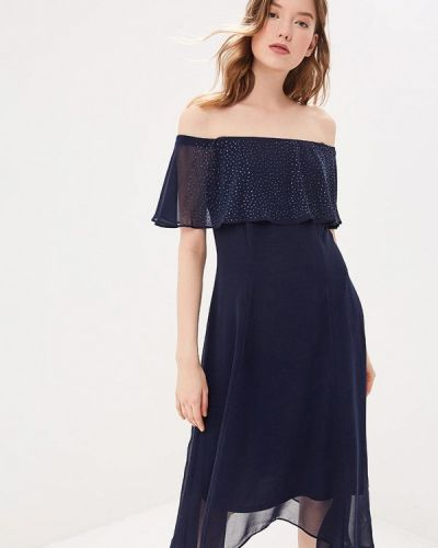 Вечернее платье весеннее синее Wallis
