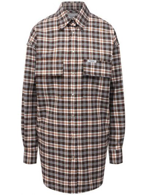 Хлопковая рубашка - коричневая Forte Dei Marmi Couture