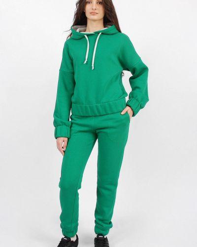 Костюмный зеленый спортивный костюм Sab