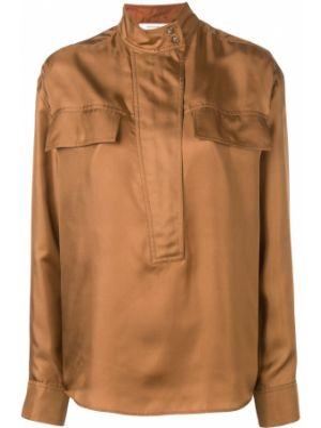 Ciepła brązowa koszula z długimi rękawami Cedric Charlier