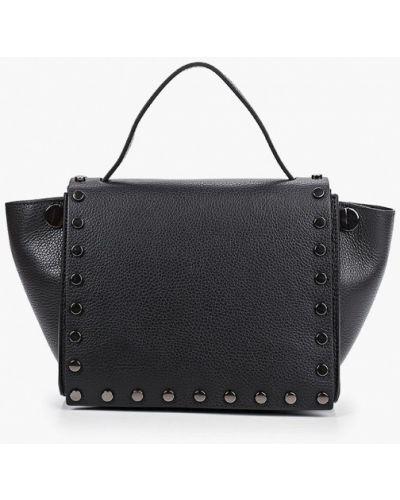 Черная сумка через плечо из натуральной кожи Carla Ferreri