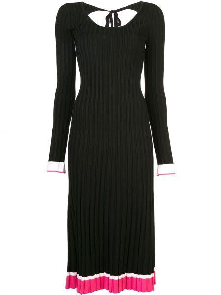 Платье черное с рукавами Prabal Gurung