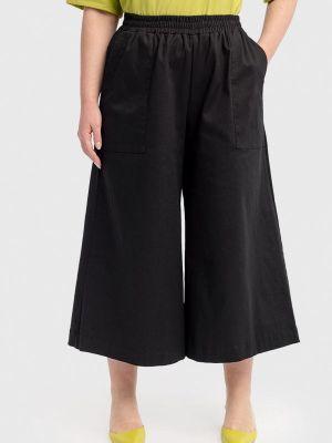 Широкие брюки - черные Lessismore
