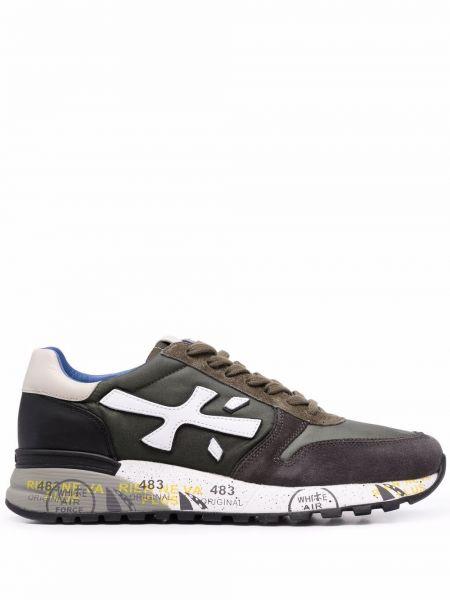 Кожаные кроссовки - зеленые Premiata