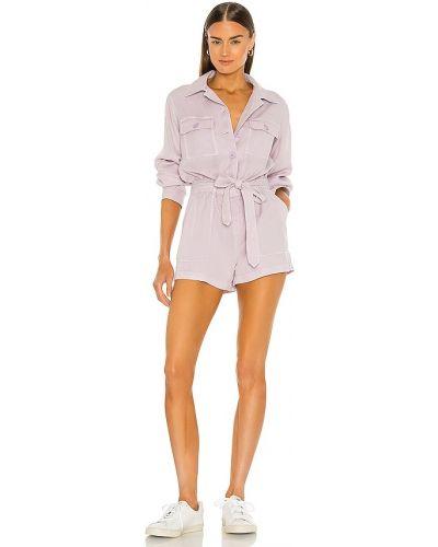 Текстильный фиолетовый ромпер с поясом Pam & Gela
