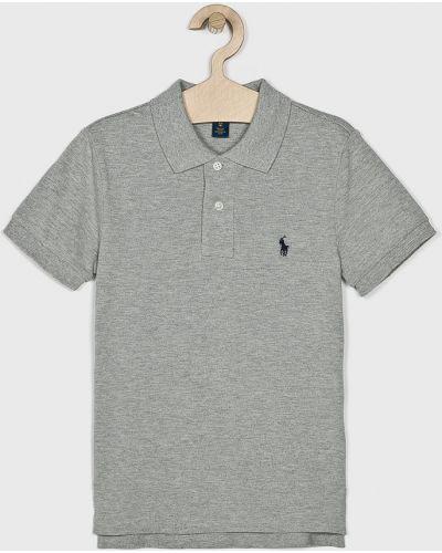 Koszulka polo na przyciskach szary Polo Ralph Lauren