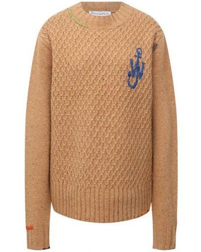 Бежевый шерстяной свитер Jw Anderson