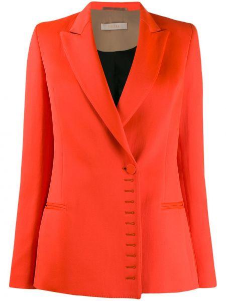 Оранжевая куртка с манжетами на пуговицах из вискозы Ssheena