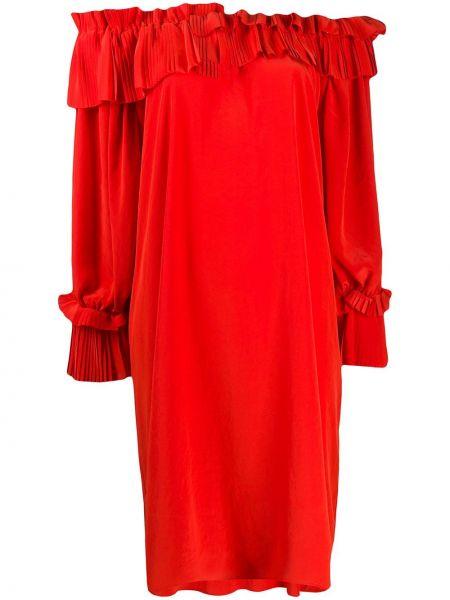 Платье миди прямое красный P.a.r.o.s.h.