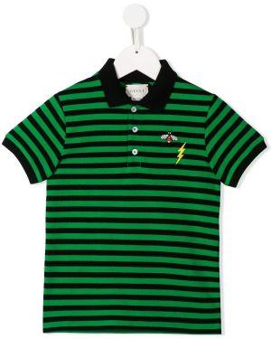 Рубашка черная светлый Gucci Kids