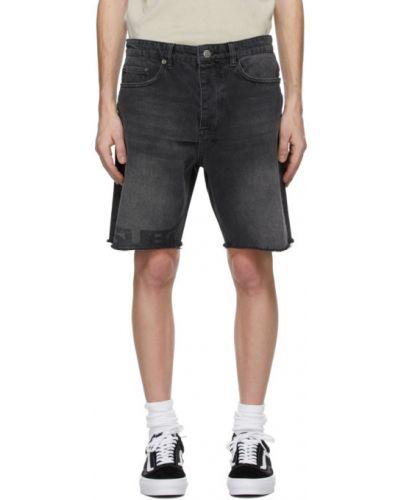 Черные джинсовые шорты с карманами с вышивкой Ksubi