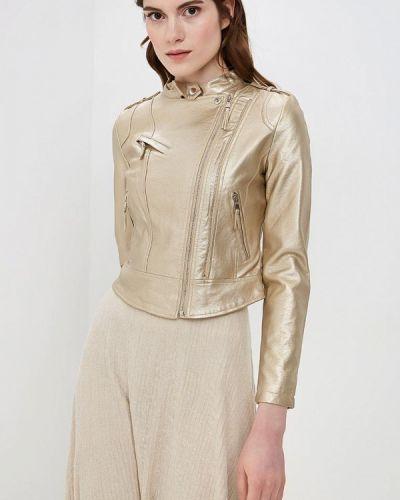 Кожаная куртка - золотая Allegri