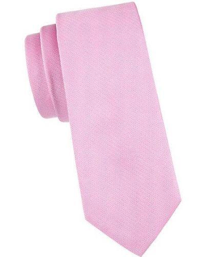 Różowy krawat z jedwabiu Boss Hugo Boss