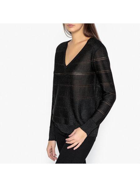 Ажурный пуловер в полоску с V-образным вырезом Berenice