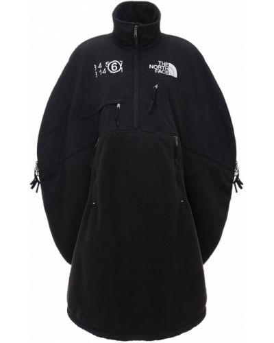 Czarny kurtka z kieszeniami z haftem Mm6 Maison Margiela
