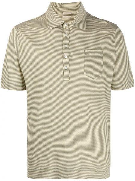 Koszula krótkie z krótkim rękawem klasyczna zielona Massimo Alba