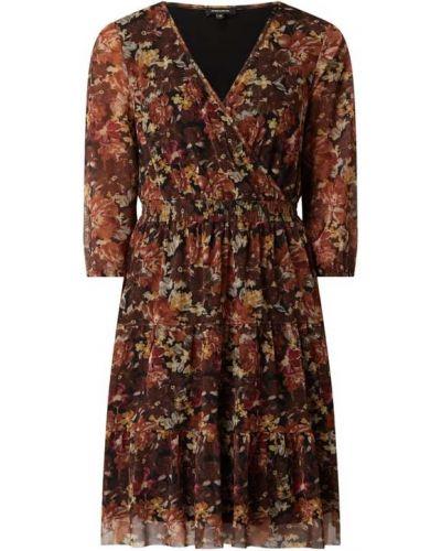 Sukienka rozkloszowana - brązowa More & More