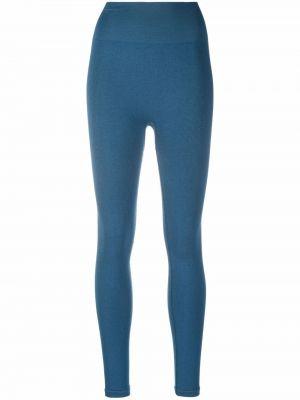 Niebieskie spodnie z printem Maison Lejaby
