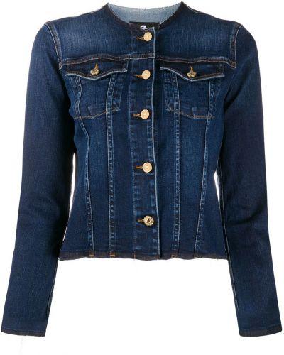 Хлопковая синяя джинсовая куртка с карманами 7 For All Mankind