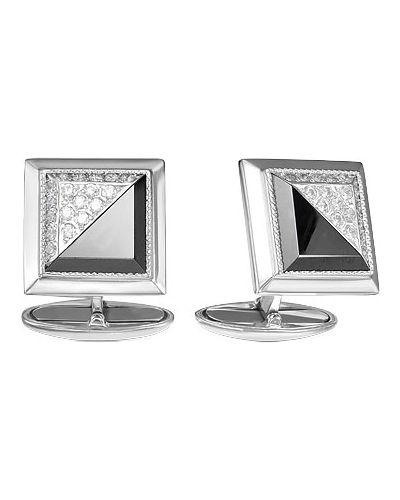 Запонки из серебра черный серебро россии