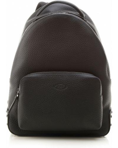 Czarny plecak skórzany Tod's