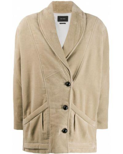 Зимняя куртка длинная бархатная Isabel Marant