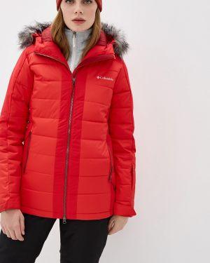 Горнолыжная куртка осенняя красная Columbia
