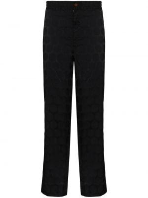 Czarne spodnie w grochy do pracy Comme Des Garcons Homme Plus