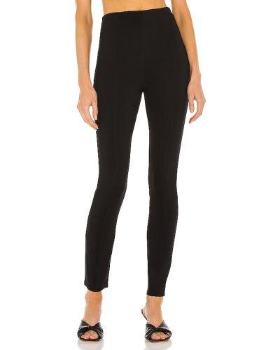 Czarne spodnie z nylonu Majorelle