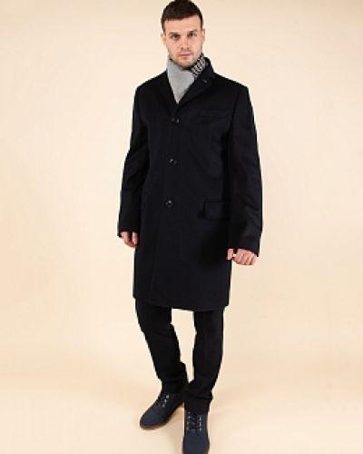 Шерстяное черное пальто с воротником Astor