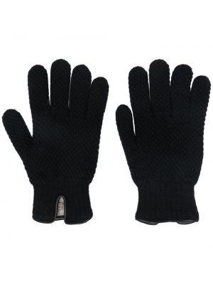 Czarne rękawiczki skorzane Lady Anne