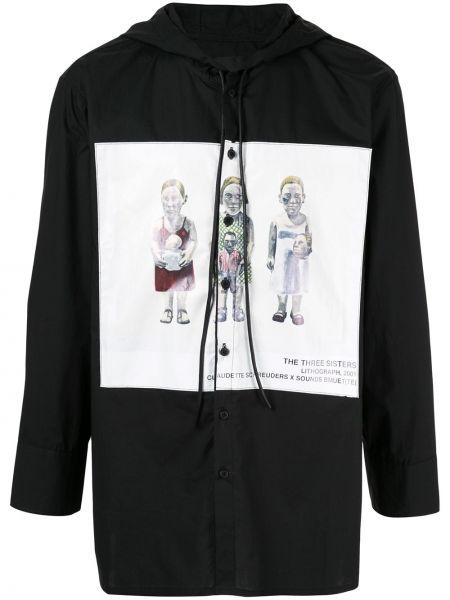Czarna koszula bawełniana z kapturem Bmuet(te)