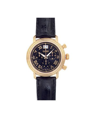 Часы с кожаным ремешком швейцарские черный Charmex