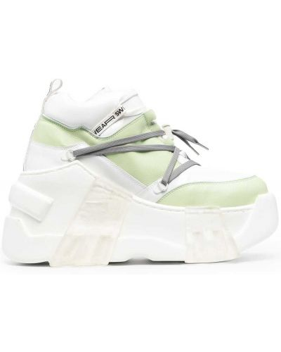 Zielone sneakersy na platformie Swear