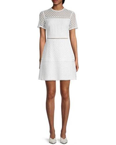 С рукавами бежевое кружевное платье мини Ted Baker London
